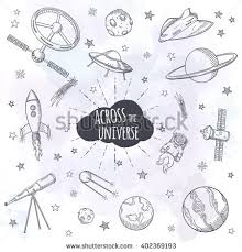 astronomy objects vector set hand drawn stock vector 532367053