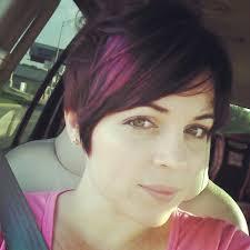 purple hi lites in short hair hair pinterest hair shorts