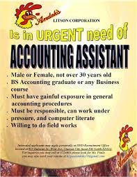 Resume Of Accountant Assistant Andok U0027s Litson Corporation Is Hiring