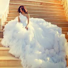 wedding dresses fluffy robe de mariage gown tulle fluffy white wedding