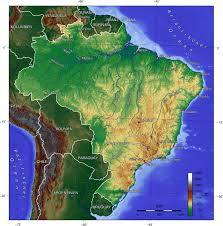World Elevation Map by Map Of Brazil Topographic Map Worldofmaps Net Online Maps