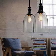 aliexpress com buy homestia glass bell pendant lights vintage