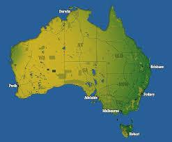 map od australia maps show just how the australian population jams into tiny