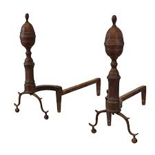 Antique Brass Fireplace Andirons by Antique Fireplace Andirons