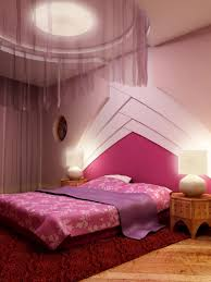 bedroom color palette ideas in pink and purple with cool ceiling