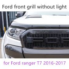 front grill ford ranger aliexpress com buy led abs black front grill everest wildtrak