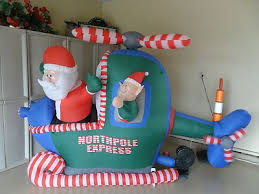 Santa Claus In Helicopter Christmas Decoration by 34 Best Outdoor Christmas Decorating Images On Pinterest Outdoor