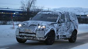 land rover pajero 2017 land rover discovery caught testing in the snow