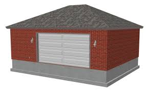 g456 24 x 30 x 10 hip brick eave side doors garage plan free