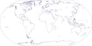 World Continents And Countries Map by World Outline Map
