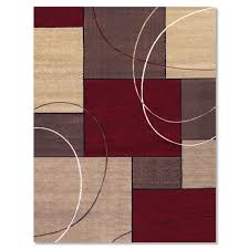 Area Rugs With Circles Casa Circles And Squares 8 U0027 X 10 U0027 Area Rug Brown And Beige