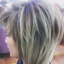 silver hair with blonde lowlights beautiful blonde asymmetrical haircuts with dark brown underneath