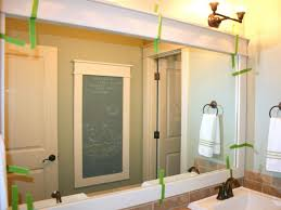 framed bathroom mirror ideas how to frame a mirror hgtv