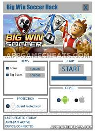 big win football hack apk big win soccer hack cheats coins big bucks bigwinsoccer