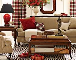 Plaid Living Room Furniture Living Room Design Tartan Decor Plaid Curtains Design Brown And