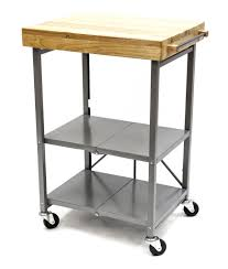 Movable Islands For Kitchen by Furniture Butcher Block Cart With Steel Base For Kitchen
