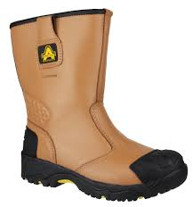 amblers safety fs143 tan waterproof rigger boot steel toe cap and