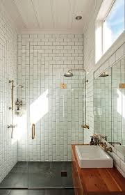 Midcentury Modern Bathroom by Architecture Now White Bathroom Mid Century Modern Subway Tiles