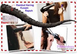 Catok Uap 3 langkah kembalikan kesuburan rambut gara gara alat elektronik