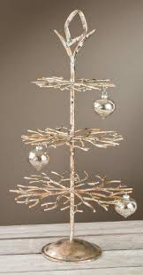 3 tier designer tree brushed gold with applied accents 28