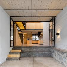 delfino lozano u0027s rr house features pine joinery and an under stair