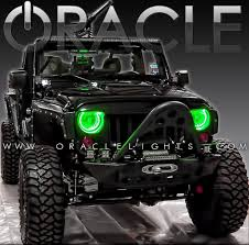 Led Lights For Jeeps Oracle Color Changing Halo Headlight And Foglight Light Kits For