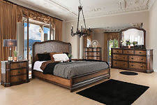 dark wood tone bedroom sets ebay