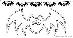 imagenes de halloween para imprimir y colorear plantillas muercielagos guirnaldas colorear1 halloween pinterest