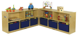 ecr4kids birch classroom fold u0026 lock 5 section storage