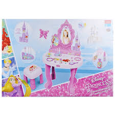 Disney Princess Vanity And Stool Disney Princess Dressing Table Play Set Girls Vanity Mirror Toy 17