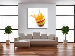 toile deco cuisine tableau cuisine explosion de fruits décoration murale design
