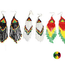 reggae earrings jamaica rasta rastafari empress irie earrings one marley