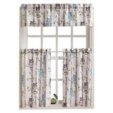 Owl Kitchen Curtains by Mainstays Marjorie Sheer Voile Curtain Panel Walmart Com