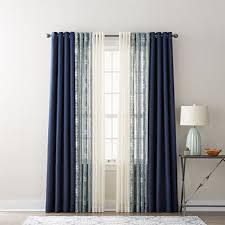 Jcpenney White Curtains Jcpenney Home Quinn Batiste Paisley U0026 Batiste Solid Sheer