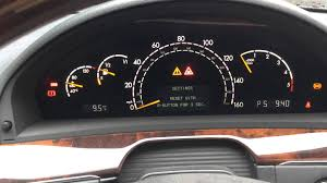Mercedes W220 S Class S320 Cdi Dashboard Instrument Cluster User