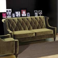 olive green velvet sofa wayfair