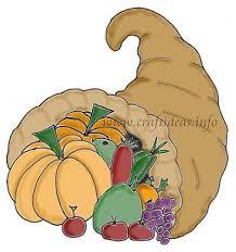 free craft pattern thanksgiving cornucopia