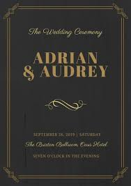 wedding program templates free online customize 48 wedding program templates online canva