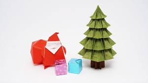 origami tree fabric ornamentsorigami