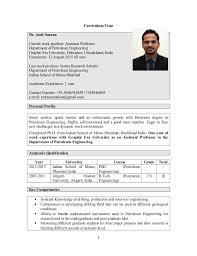 Sample Teacher Resume Indian Schools Amit Saxena Academic Cv
