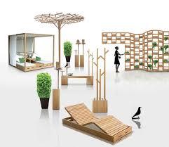 wooden outdoor furniture designs by deesawat green wall stick