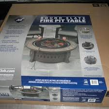 slate fire pit table find more brand new in box 44 round slate fire pit table for sale