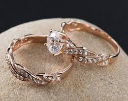 wedding rings set wedding ring set etsy