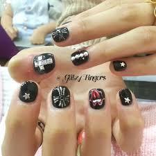 nail designs glitzy fingers