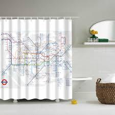 popular london shower curtain buy cheap london shower curtain lots london subway shower curtain map bathroom waterproof shower curtain douchegordijn cortina ducha 3d china