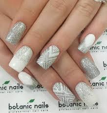 45 chevron nail art ideas silver nail white nails and chevron