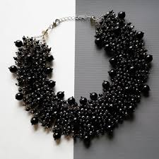 beaded statement necklace images Black beaded statement necklace panacea jewelry jpg