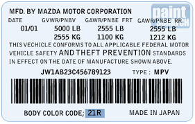 mazda touch up paint color code and directions for mazda