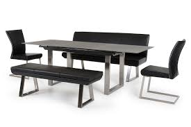 Black Dining Table Otis Modern Grey Extendable Dining Table