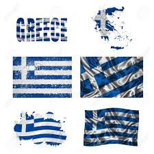 Greece Flag Colors Greece Flag And Map In Different Styles In Different Textures